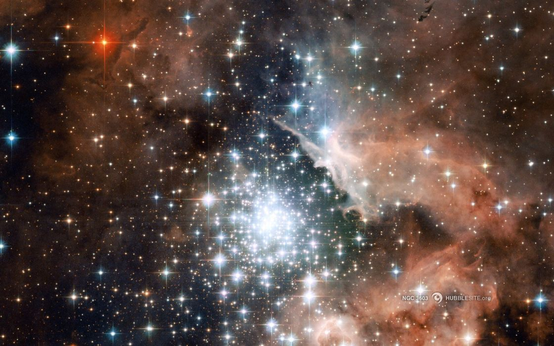 space nasa hubble ngc 3603 wallpaper