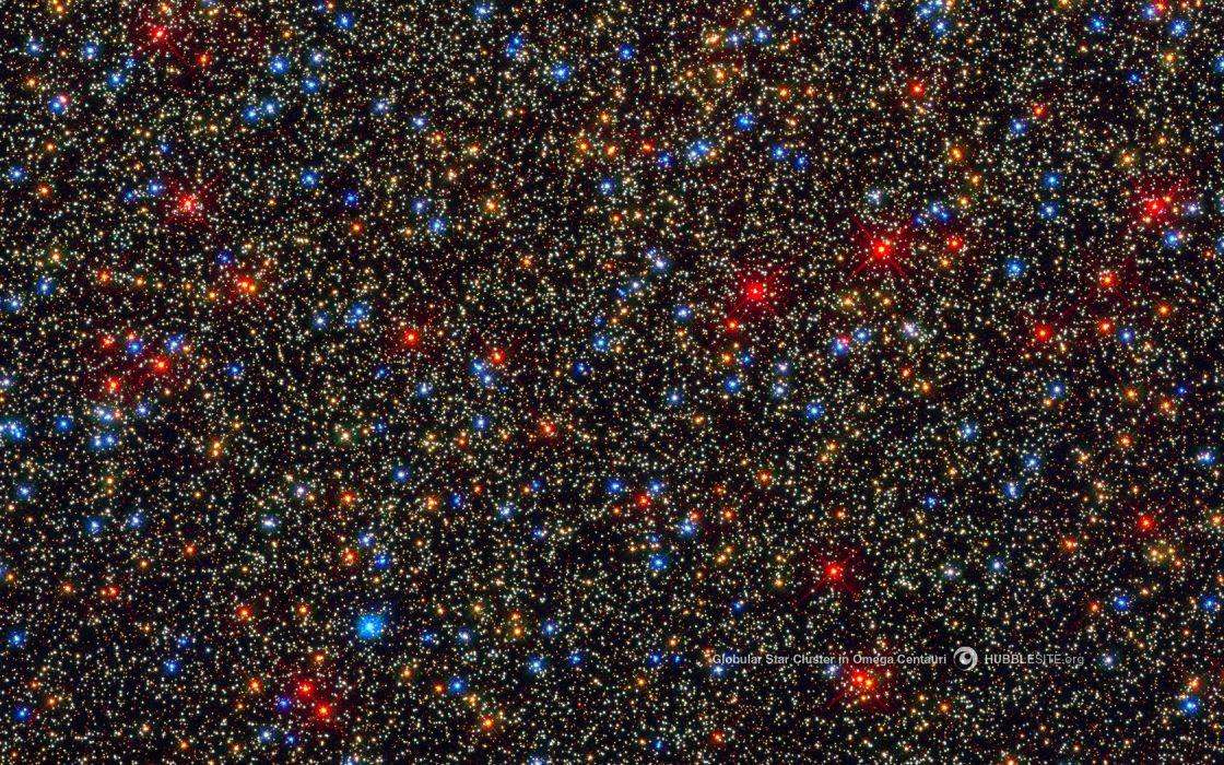 space nasa hubble globular star cluster omega centauri wallpaper