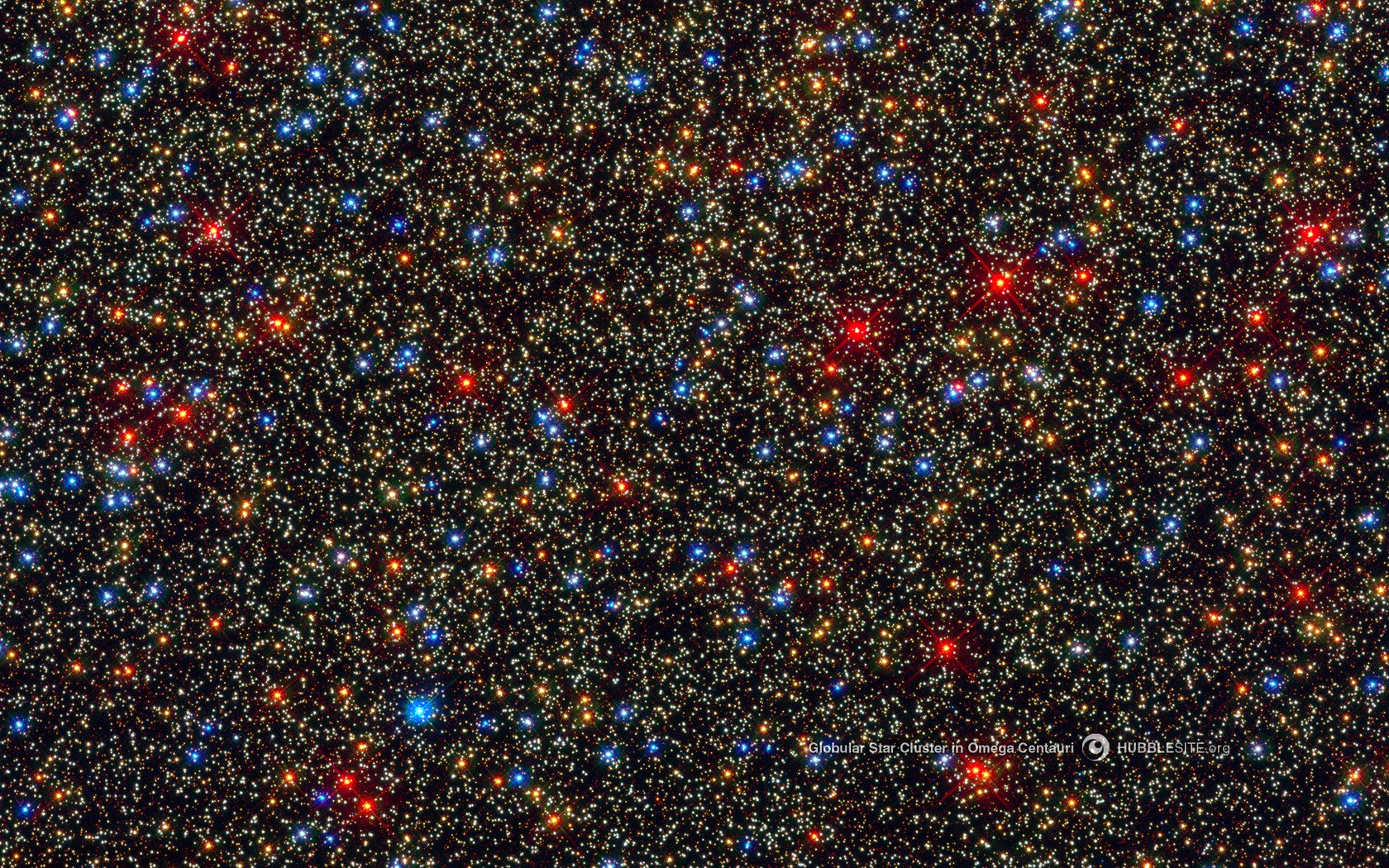 Space nasa hubble globular star cluster omega centauri ...