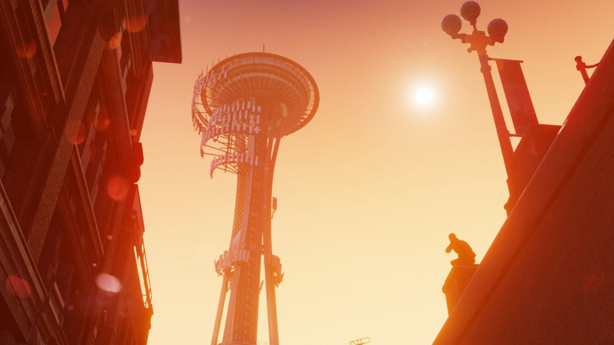 inFAMOUS SECOND SON sci-fi action adventure seattle space needle wallpaper