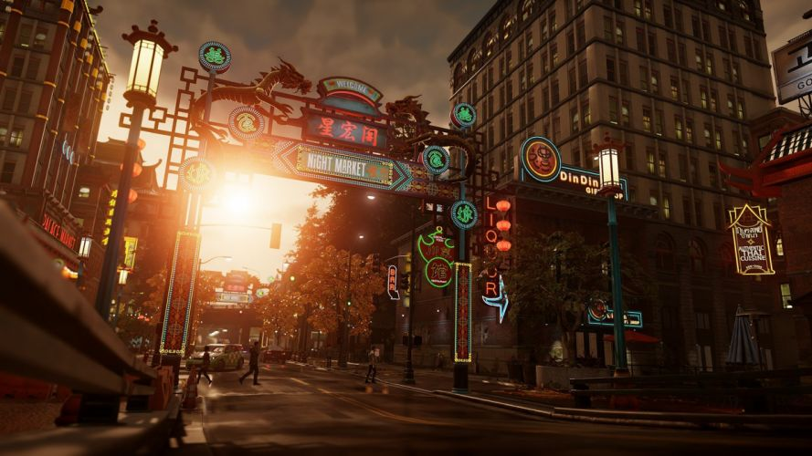 inFAMOUS SECOND SON sci-fi action adventure city seattle night wallpaper