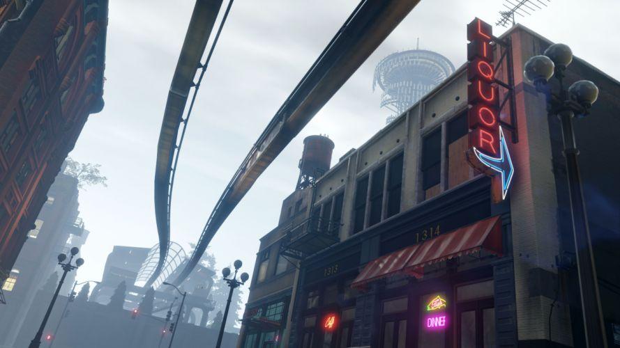 inFAMOUS SECOND SON sci-fi action adventure city seattle wallpaper
