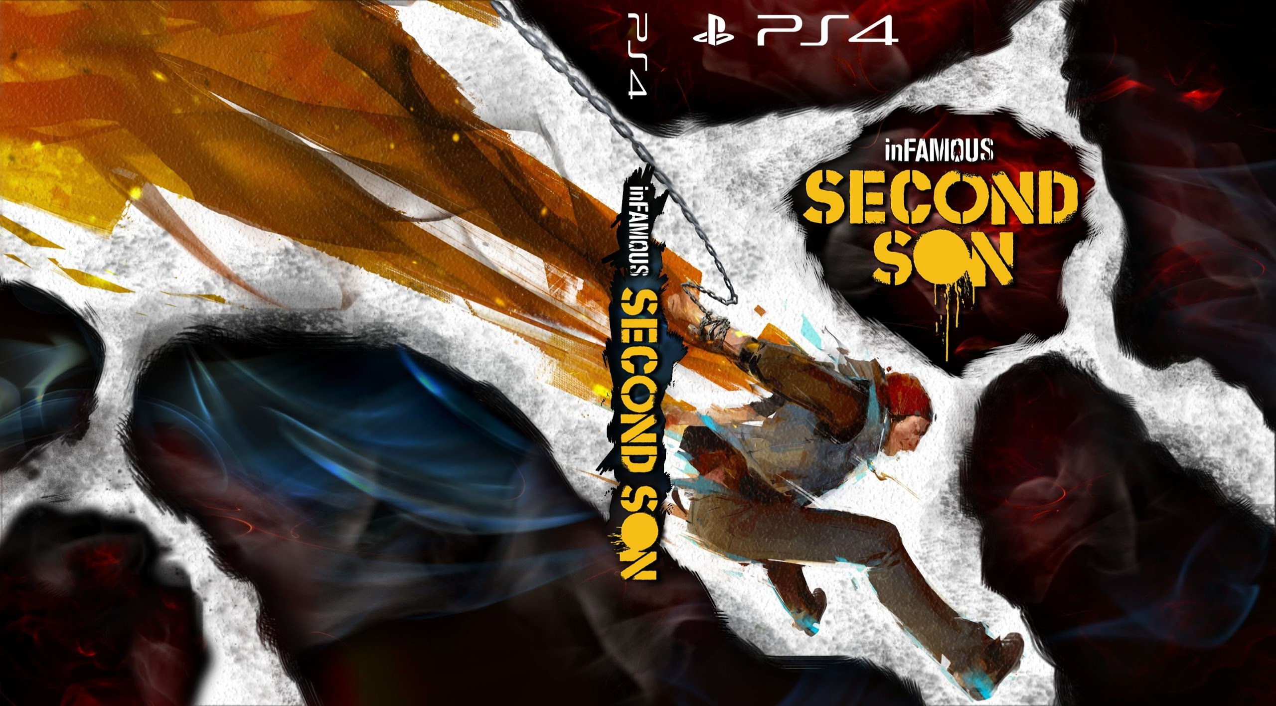 InFAMOUS SECOND SON sci-fi action adventure poster wallpaper   2560x1417   308588   WallpaperUP