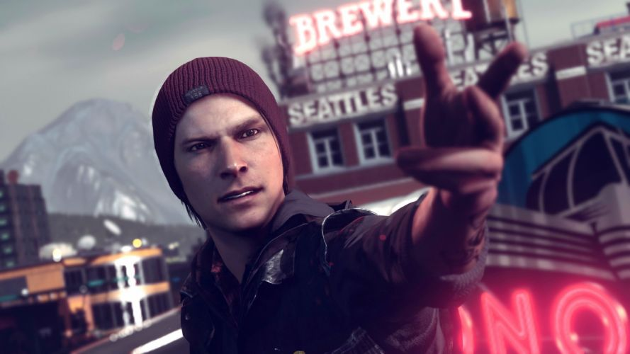 inFAMOUS SECOND SON sci-fi action adventure warrior seattle wallpaper