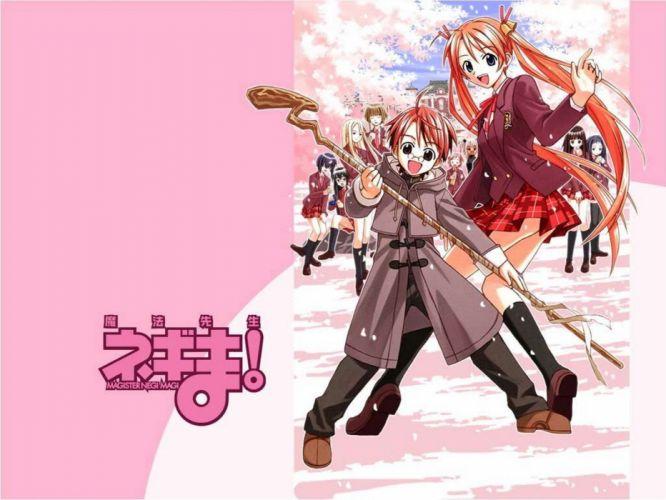 Mahou Sensei Negima school uniforms Ayase Yue Kagurazaka Asuna Miyazaki Nodoka anime Konoe Konoka Ku Fei Negi Springfield Nagase Kaede Saotome Haruna Murakami Natsumi Yukihiro Ayaka wallpaper