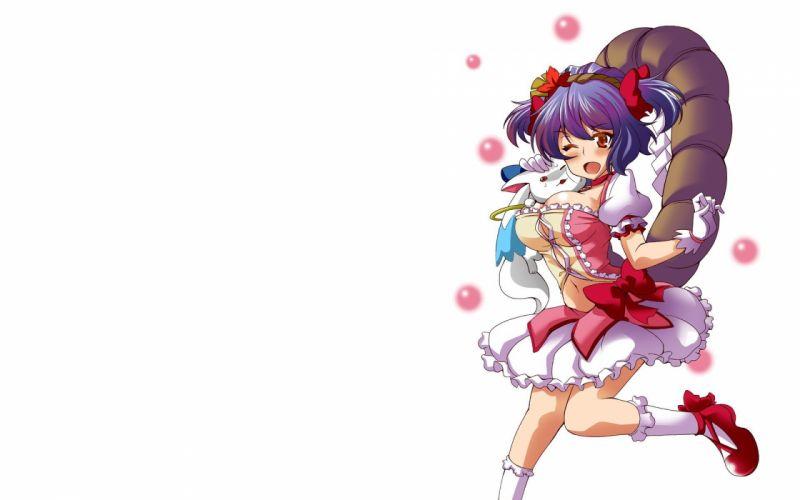 video games Touhou Goddess Yasaka Kanako simple background anime girls wallpaper
