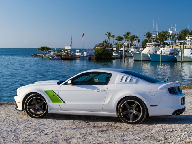 white cars Ford Ford Mustang roush stage 3 wallpaper