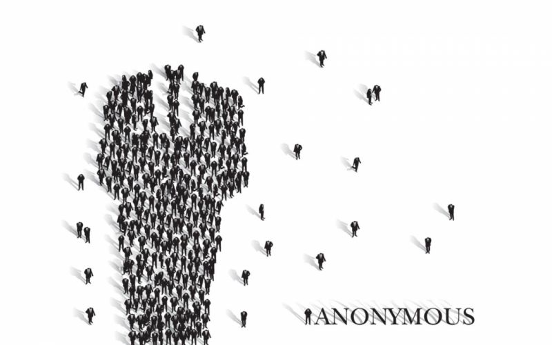 Anonymous suit wallpaper
