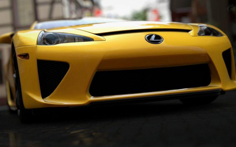 cars supercars Lexus LFA Gran Turismo 5 wallpaper