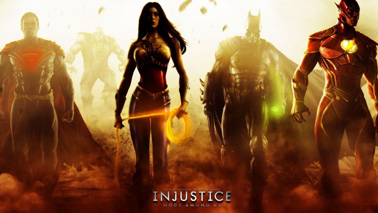 women Batman Superman superheroes animation Flash (superhero) Wonder Woman game Injustice: Gods Among Us Solomon Grundy wallpaper