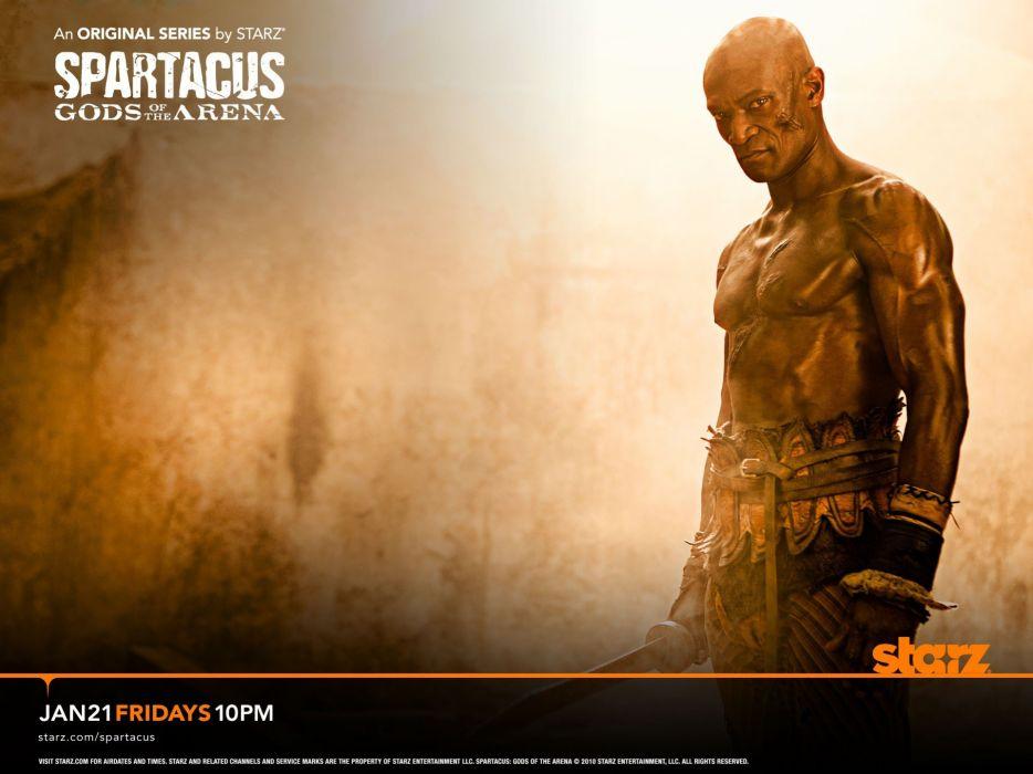 Spartacus Oenomaus Doctore Spartacus: Gods of the Arena Peter Mensah wallpaper