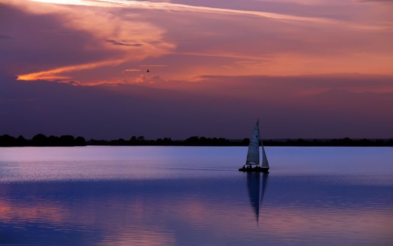 water boats skyscapes wallpaper