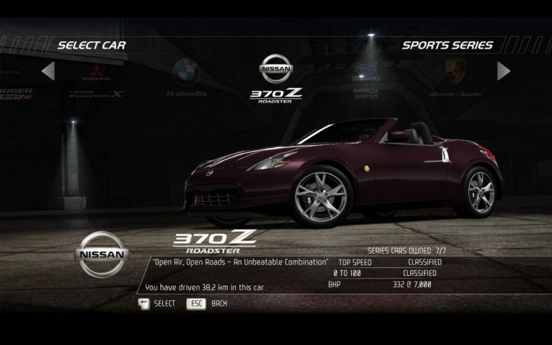 video games cars Nissan 370Z roadster Need for Speed Hot Pursuit pc games wallpaper