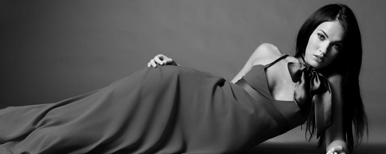 brunettes women Megan Fox actress models celebrity grayscale wallpaper