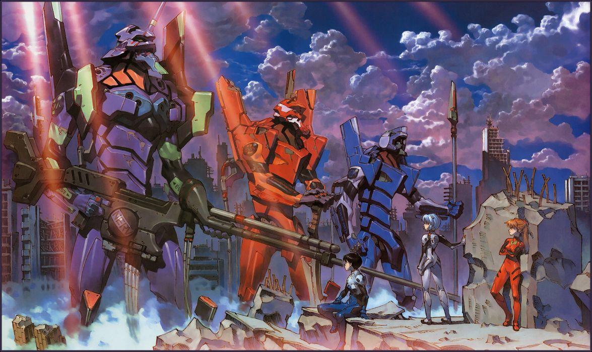 Ayanami Rei Neon Genesis Evangelion Ikari Shinji Asuka Langley Soryu EVA Unit 01 wallpaper