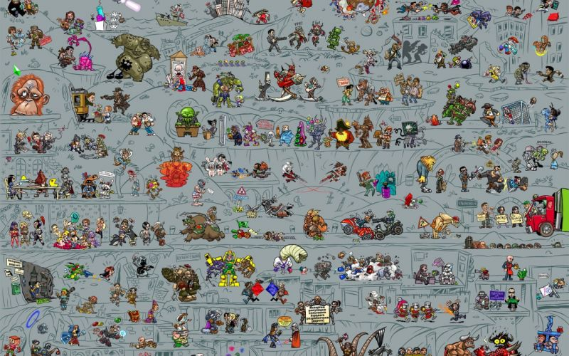 Final Fantasy VII Star Wars Metal Gear black and white video games Portal S_T_A_L_K_E_R_ black Assassins Creed Fallout BioShock StarCraft Mirrors Edge World of Warcraft Resident Evil Street Fighter Tetris Command And Conquer Deus Ex mecha Zerg Lemmings Ha wallpaper
