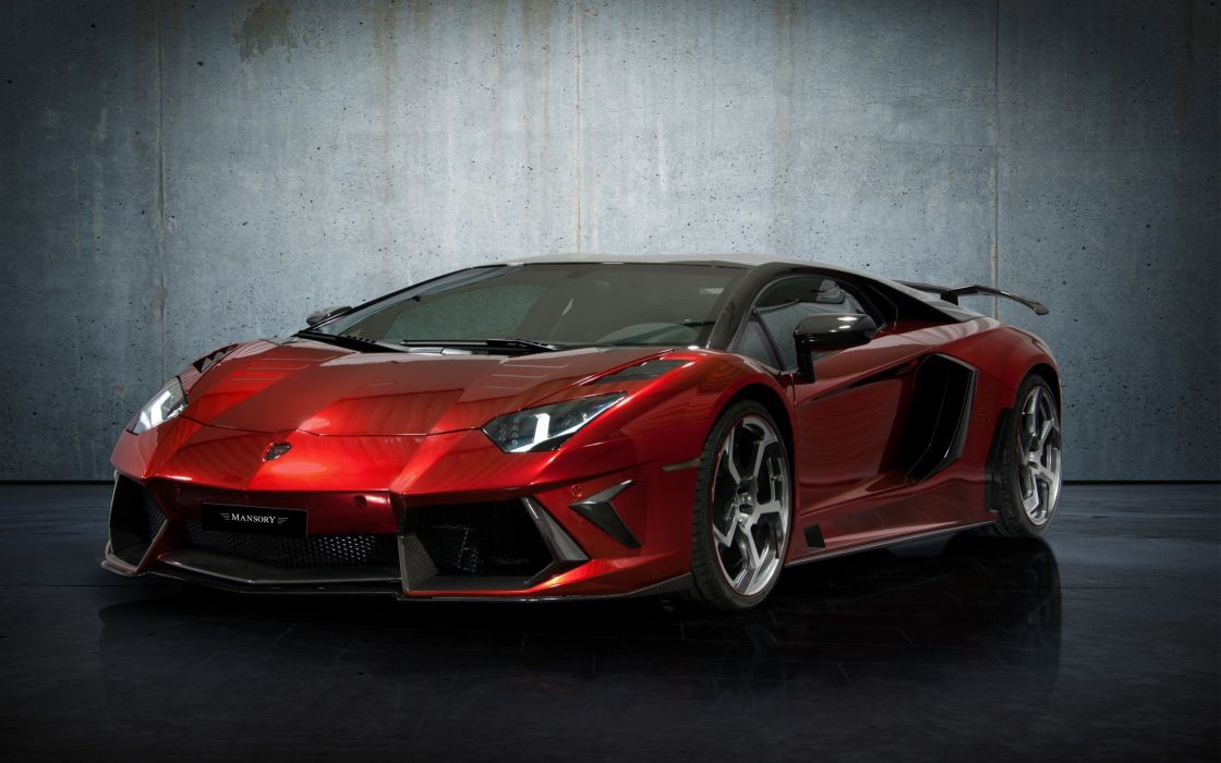 red Lamborghini vehicles supercars tuning Lamborghini Aventador Mansory pearlescence wallpaper
