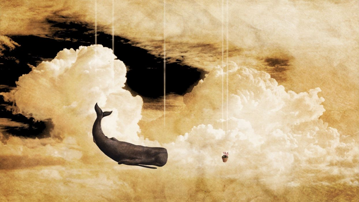 abstract The Hitchhikers Guide To The Galaxy surreal art wallpaper
