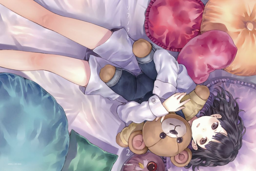 Sora No Woto teddy bears Kishida Mel Suminoya Kureha wallpaper