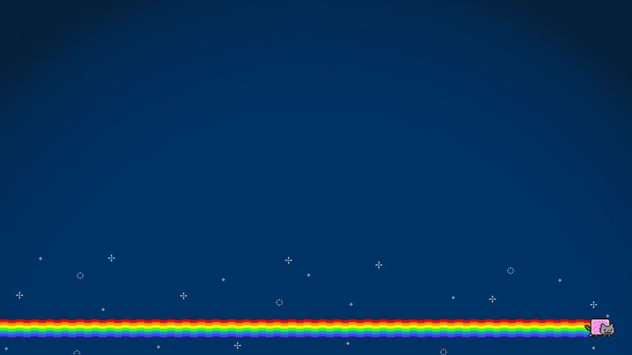 outer space cats rainbows Nyan Cat Pop-Tarts wallpaper