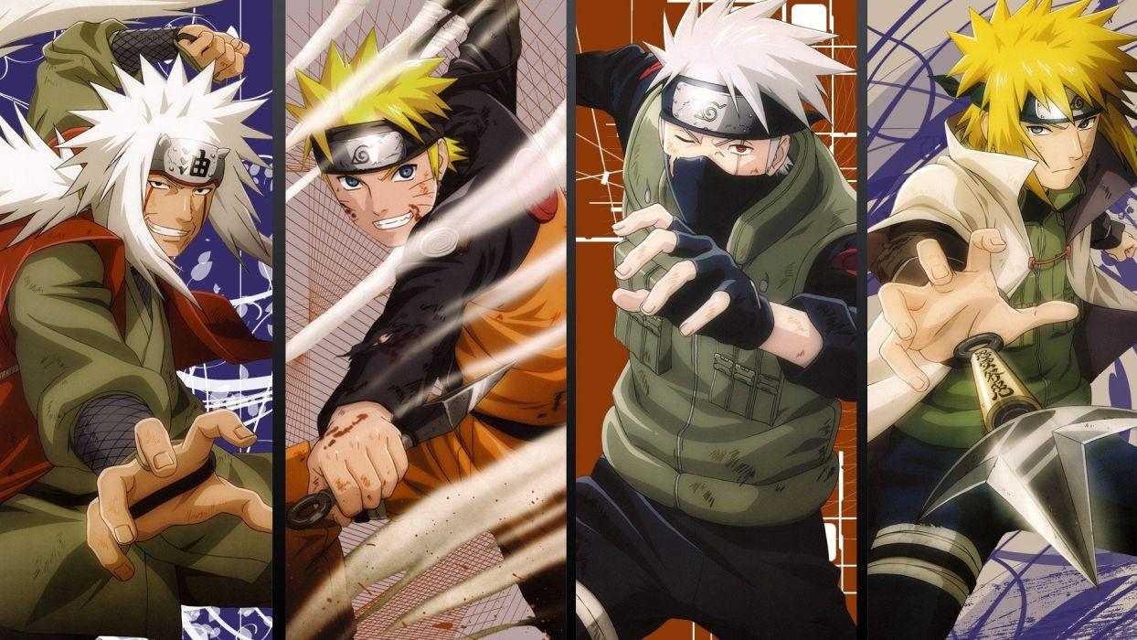 Naruto Shippuden Kunai Anime Minato Namikaze Uzumaki Kakashi Hatake Jiraiya Wallpaper