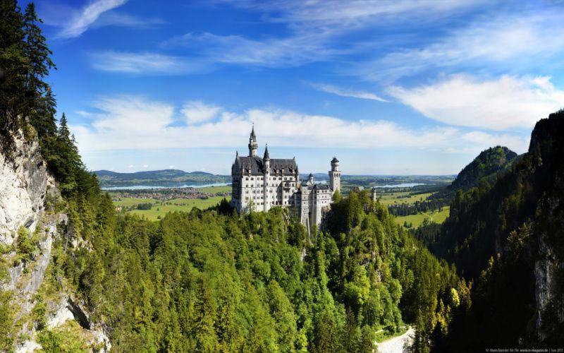 landscapes castles Neuschwanstein Castle wallpaper