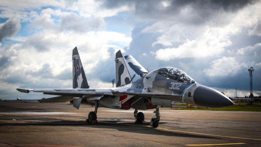 aircraft Su-27 Flanker aviation wallpaper