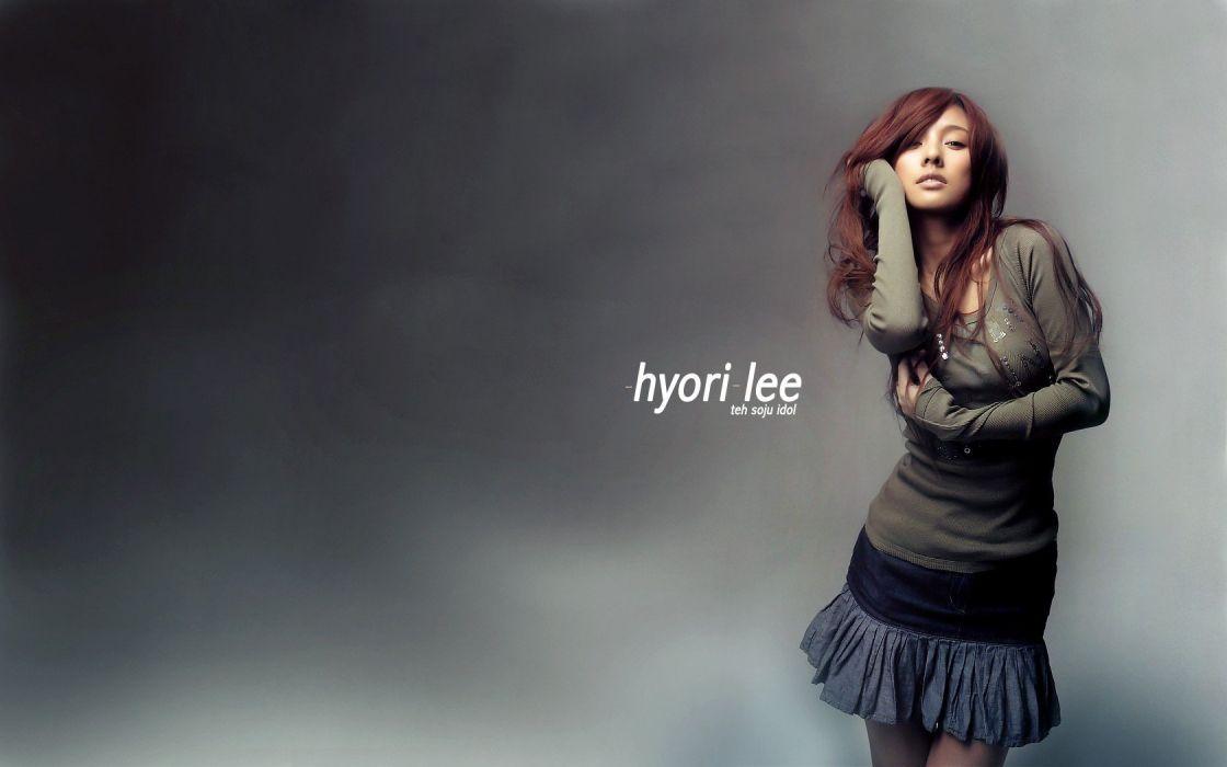 brunettes celebrity Lee Hyori Asians Korean wallpaper