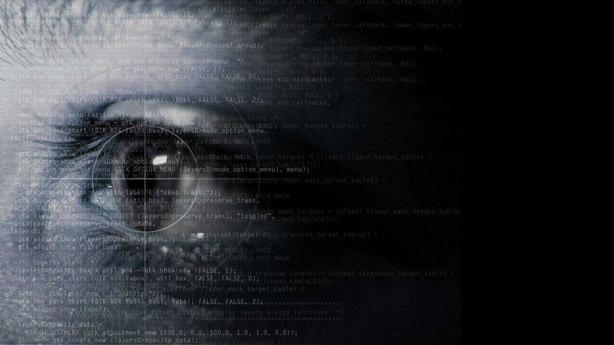 abstract eyes text programming wallpaper