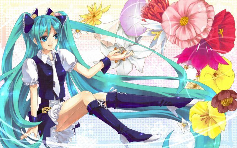 Vocaloid Hatsune Miku soft shading wallpaper