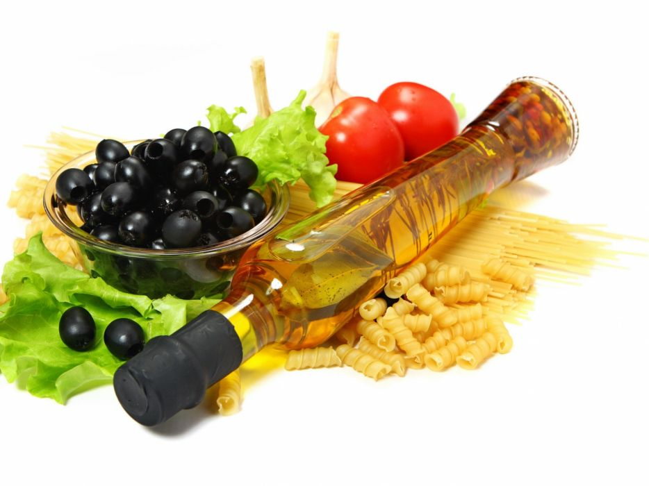 fruits food pasta tomatoes  olives lettuce wallpaper