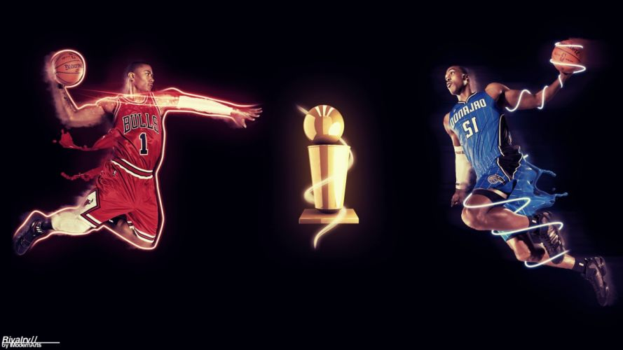 versus NBA basketball Chicago Bulls Orlando Magic wallpaper