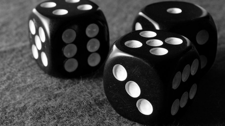 dice monochrome wallpaper