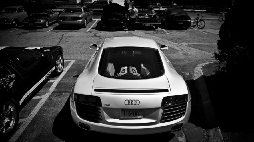 cars monochrome wallpaper