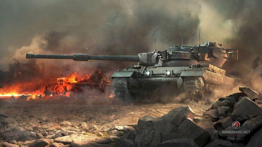 video games war fire smoke tanks artwork World of Tanks caernarvon wallpaper