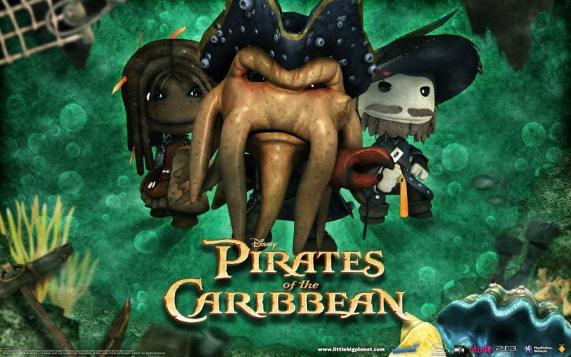 video games movies Little Big Planet dakka Pirates of the Caribbean Captain Jack Sparrow Davy Jones wallpaper