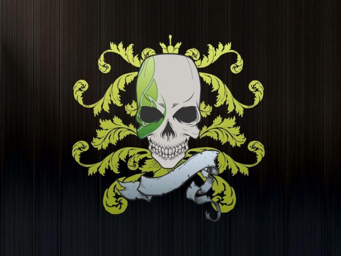 skulls Cher cranes wallpaper