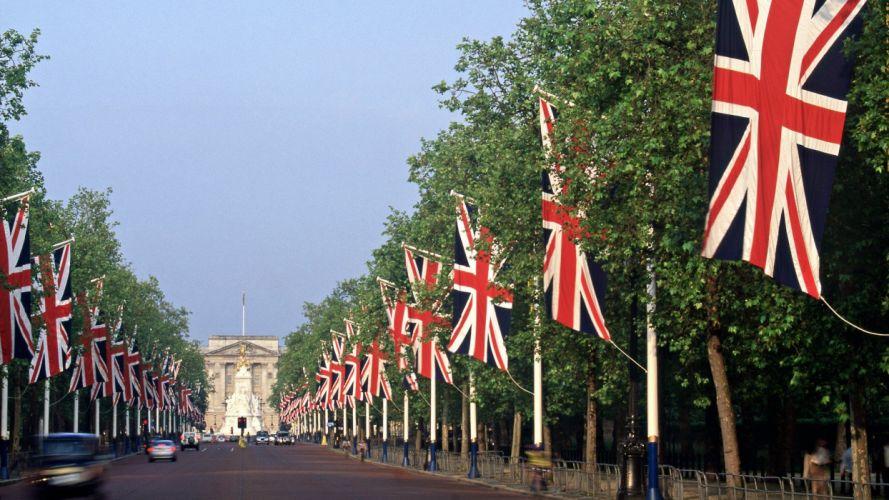 England London flags wallpaper