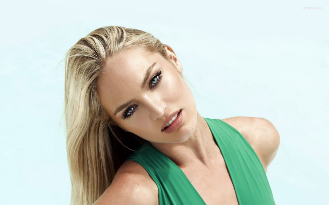 lingerie blondes women dress models Candice Swanepoel smiling wallpaper