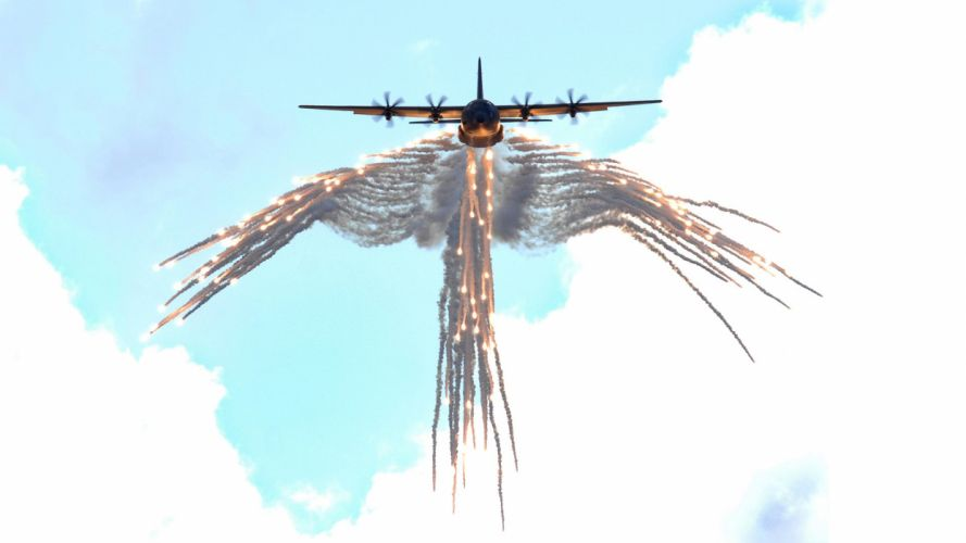 aircraft C-130 Hercules counter-measures wallpaper