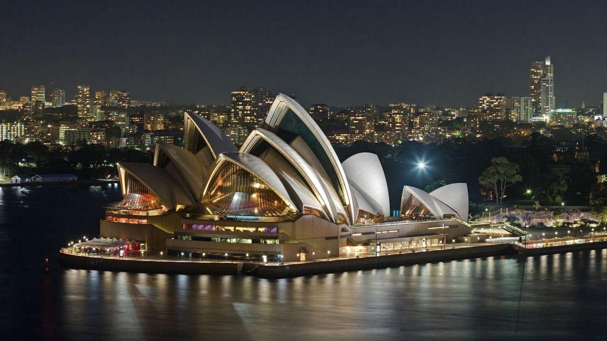 landscapes cityscapes Sydney JAIAArn Utzon opera wallpaper