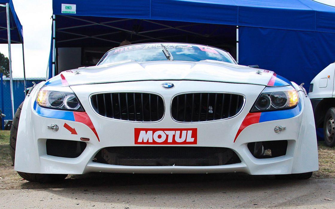 BMW king Europe drifting cars white cars races Poznan drift wallpaper