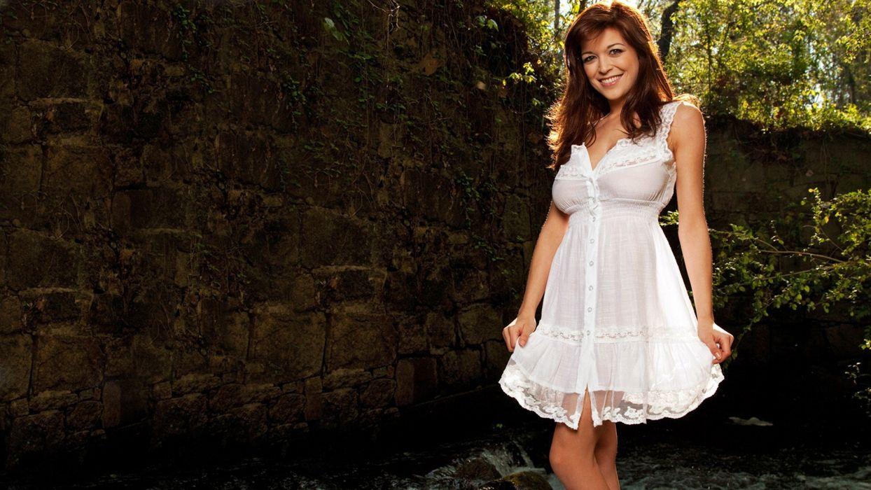 brunettes women models Tessa Fowler wallpaper