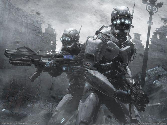 guns Hellgate London fantasy art wallpaper