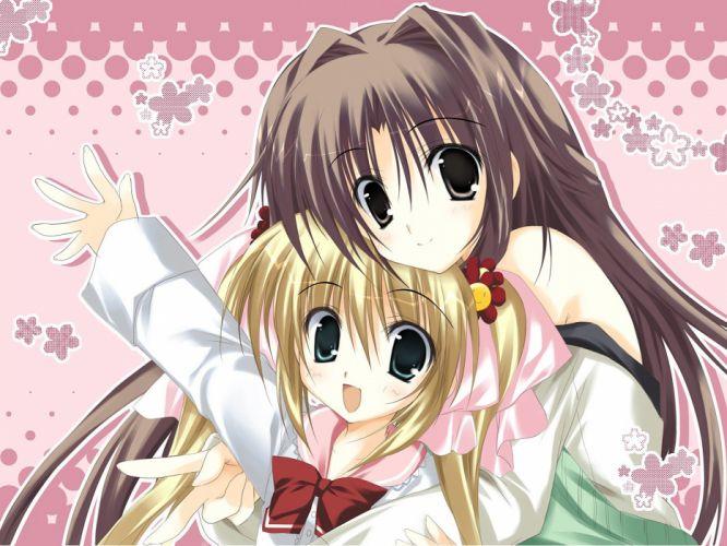 brunettes Karen green eyes visual novels twintails Sister Princess anime girls Korie Riko (Illustrator) wallpaper