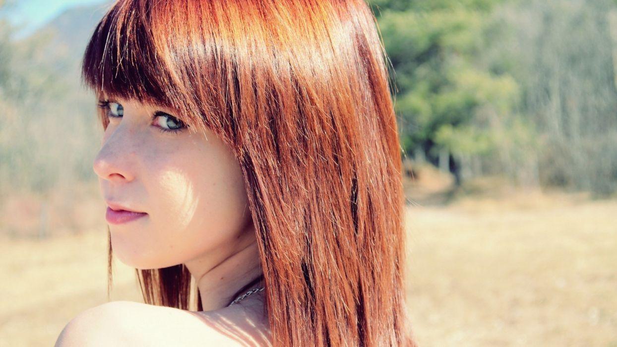 women eyes redheads models wallpaper