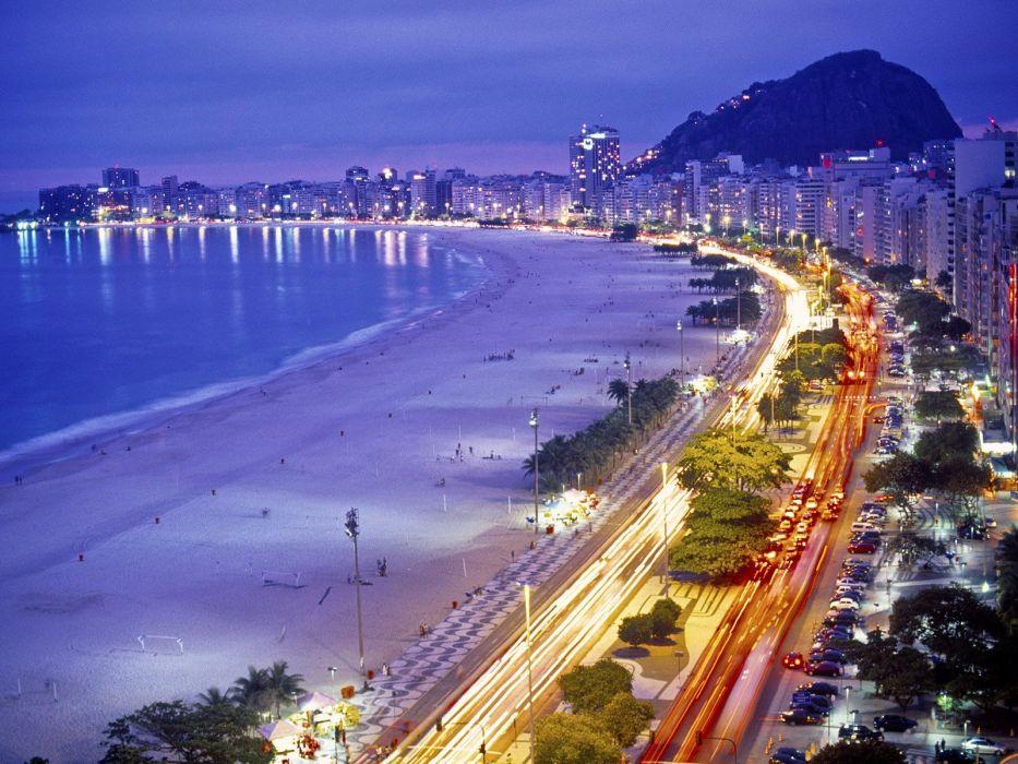 Brazil Rio De Janeiro Copacabana beaches wallpaper