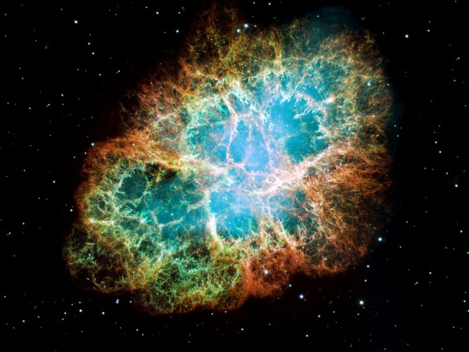 outer space Crab Nebula wallpaper