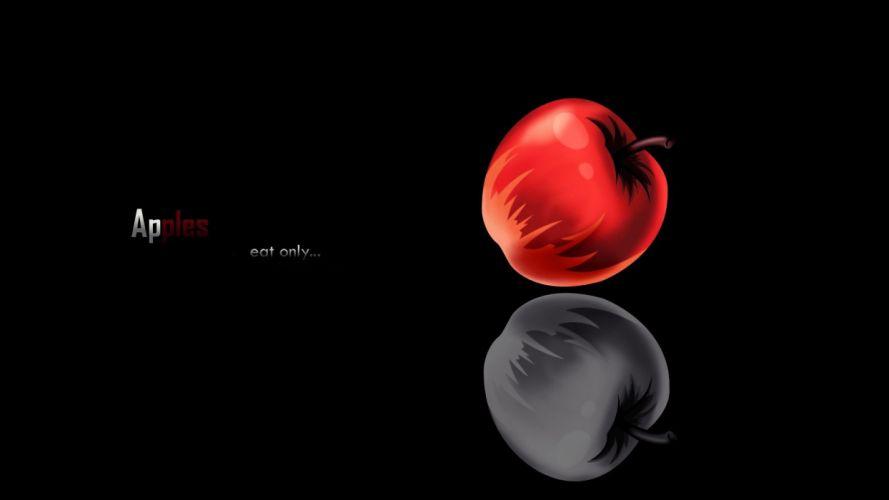 Death Note minimalistic apples wallpaper