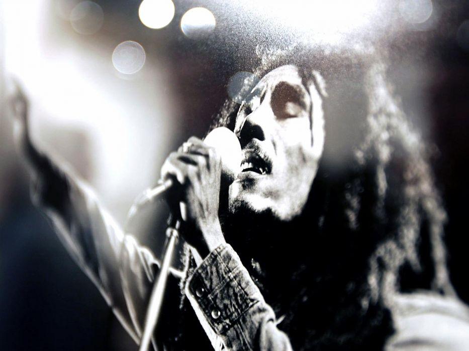 Bob Marley monochrome wallpaper